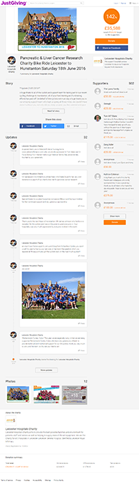 Leicester to Hunstanton  Fundraising Page for 2016
